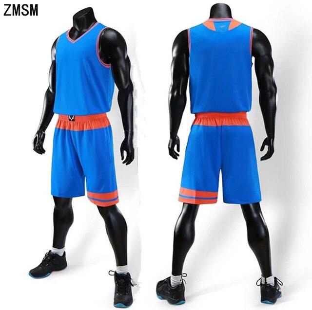 eedf7e7ec0a ZMSM 2018 Men s Basketball jerseys Set High-end Basketball uniform Custom  Training basketball Shirt Vest Shorts Sportswear LQ183