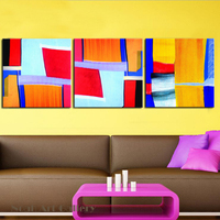 Colored Simple Abstract Geometric Painting Canvas Print High Definition On Waterproof Canvas Wall Art Home Decoration