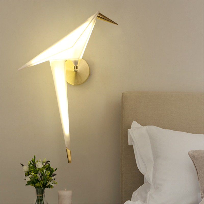 Nordic Wall Lamp LED bird wall sconces Light fixtures loft bedroom bedside loft wall lights aisle lighting luminaria lamps led wall light gold lamps glass wall lamp vintage bathroom light fixtures wall sconces bedroom lamps bedside lighting