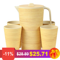 2600ml Water Kettle Bamboo Fiber Eco friendky Water Jug Heat Resistance Juice Container With Lid Filter Cold Drinkware