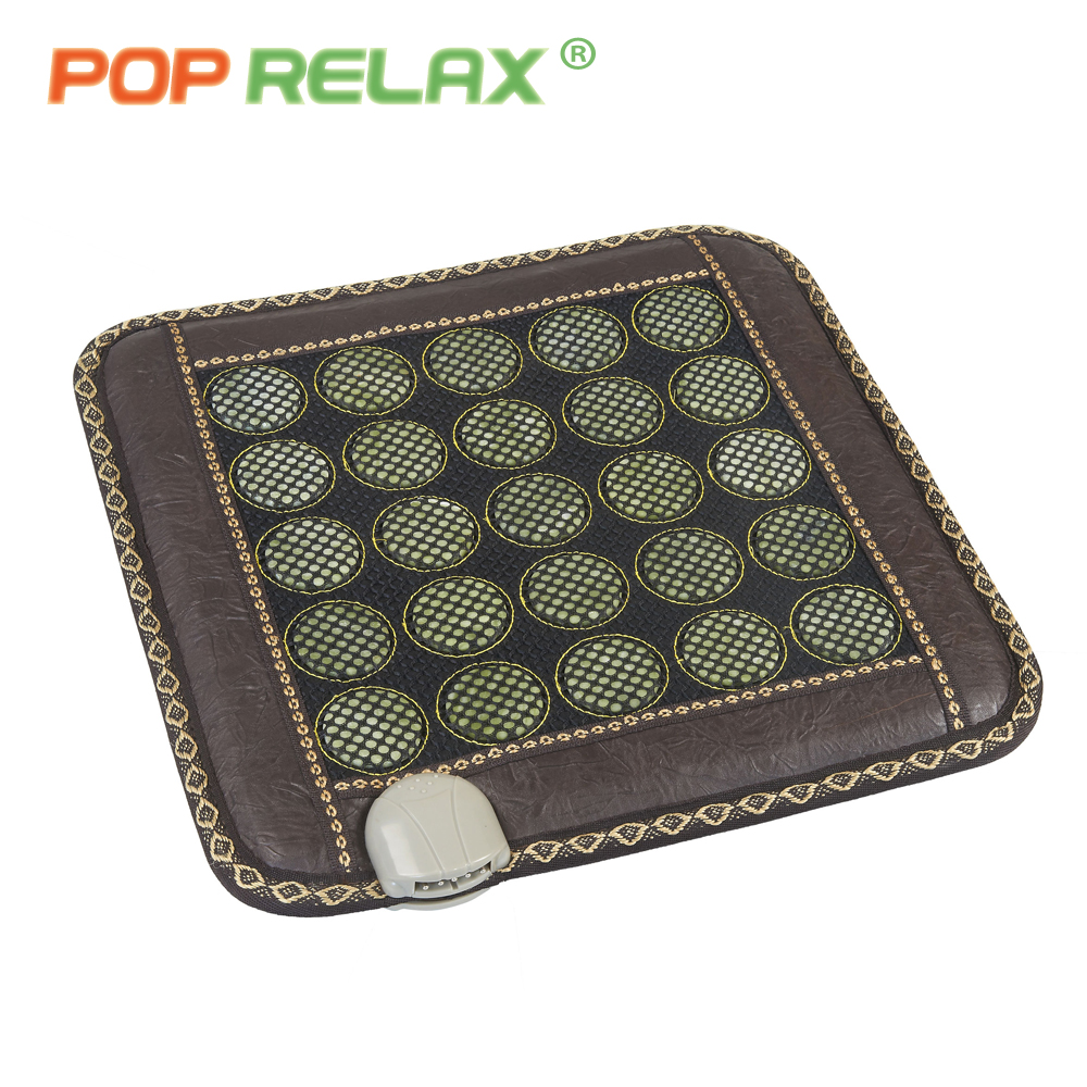 POP RELAX 110V jade stone seat mattress electric heating pad mat far infrared physiotherapy health care stone sitting mattress pop relax electric vibrator jade massager light heating therapy natural jade stone body relax handheld massage device massager