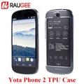 Raugee alta qualidade 5.0 polegada yota telefone 2 yd206 tpu superthin limpar back cover soft case para yotaphone 2 prorective inteligente telefone