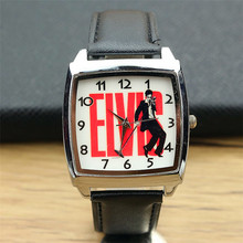 2017 New Fashion style Boys and girls Elvis Presley watch strap watch women and men casual super star design leather watch