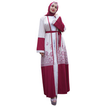 US $34.1 |Lace Haak Bloemen Hol Moslim Maxi Jurken Islamitische Kleding voor Vrouwen Turkse Avondfeest Abaya Maleisië Gewaden Djellaba in Lace Haak