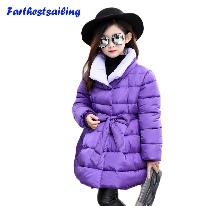 Children Winter Warm Jacket With Girl Overcoat Hooded Winter Jacket Kid Clothing Fashion Cotton Warm Hooded Kids Thick Coat цена