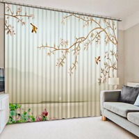 Pastoral Style Curtain fresh tree Curtains For The Living room Bedroom Children Room Curtains Home Decoration Curtain
