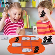OurWarm Halloween Party Home Games Felt Pumpkin Shape Educational Toys for Kids Gift Funny Travel Festive Supplies