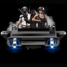 SR мобильный игровой геймпад кулер охлаждающий вентилятор бесплатно огонь PUBG мобильный игровой контроллер PUBG геймпад джойстик металлическая кнопка пуска ручка