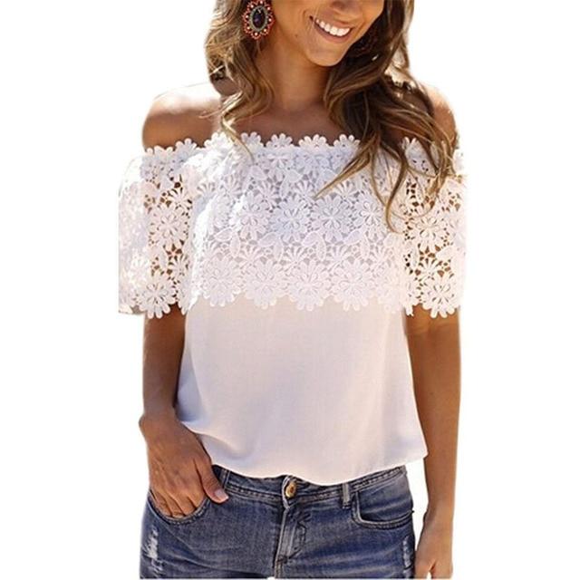 2017 Европа Америка футболка новые женские Slash шеи кружева шить кружева Холтер футболка горячие модели топы одежда vestidos YFF6119