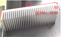 Power Amplifier Radiator Fin Aluminum Radiator Width 300 High 40 Length 300mm Length Can Be Customized