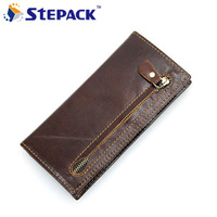 Men Wallets Genuine Leather Antitheft RFID Wallet For Cowhide Leather Long Purse Bifold Business Card Holder