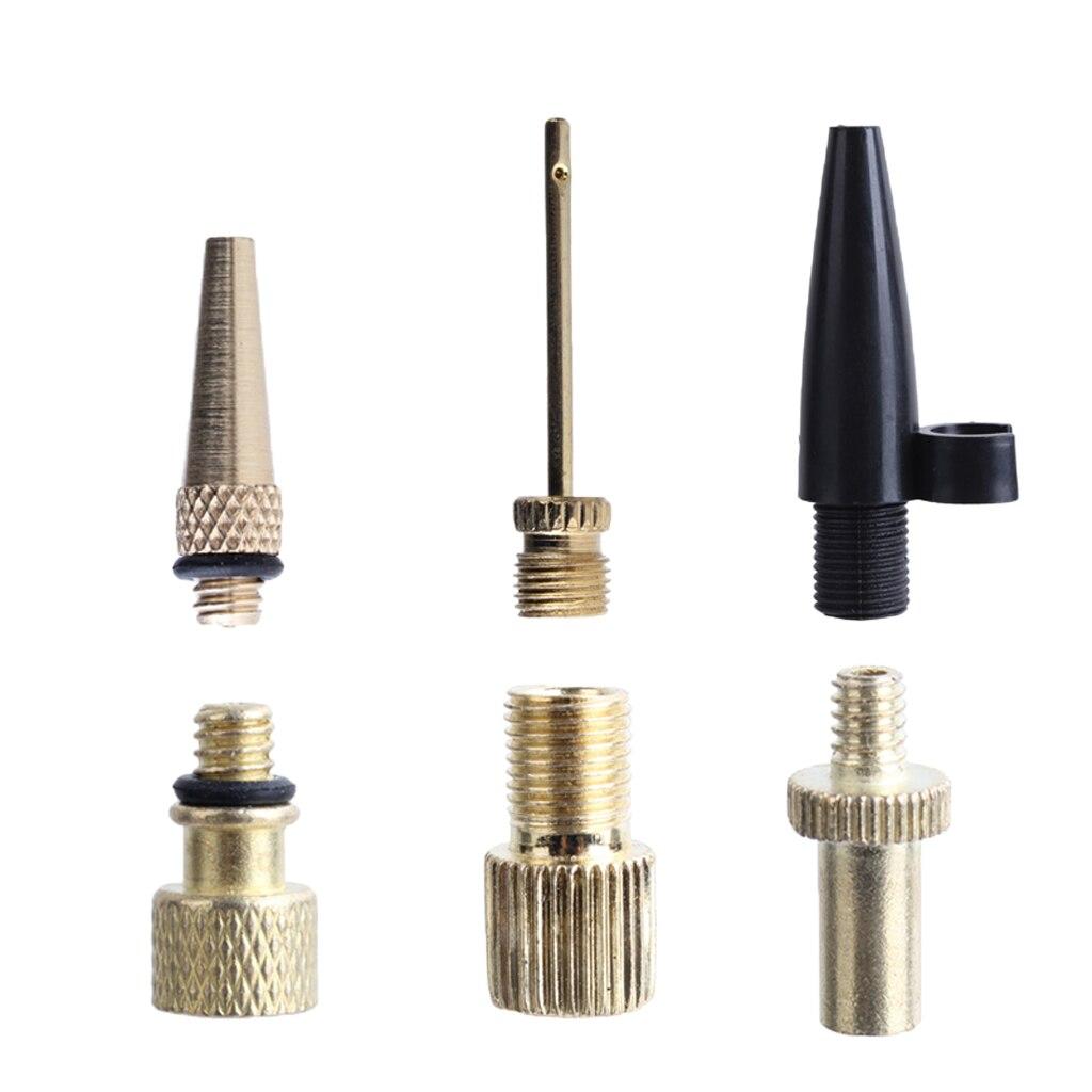 Copper Inflator Pump Nozzle Kit Presta Schrader Valve Adapter Tube Bicycle Valve Adaptors For Road & MTB & Fixie Bike Tire Pump