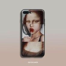 Фотография Mona Lisa funny Spoof Art soft silicone TPU Phone Case cover Shell For Apple iPhone 5 5S SE 6 6S 6Plus 6sPlus 7 7Plus 8 8Plus X