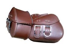 Free shipping motorcycle side bag satchel spring baboon car sail force Street car side box mini saddle bag /Brown