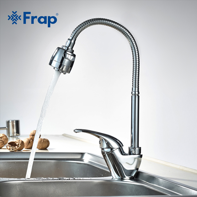 1 SET Free Shipping Frap true Brass Kitchen faucet Mixer Cold and Hot Kitchen Tap Single Hole Water Tap torneira cozinha F4303