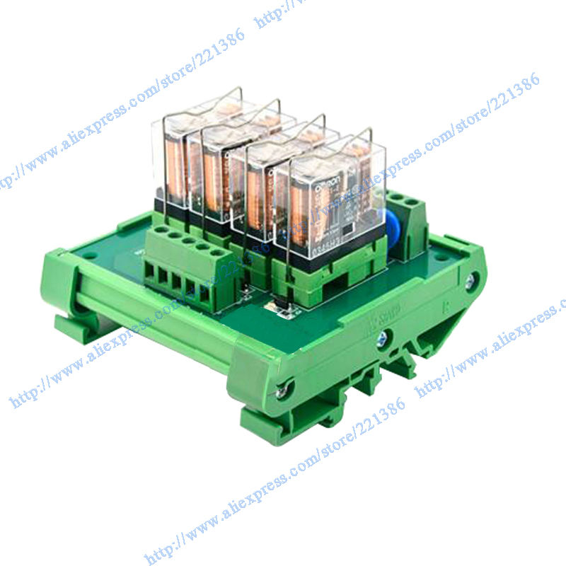 4 Channel 24V 16A Relay Module For Driver Board Output Omron Relay G2R-1-E Omron