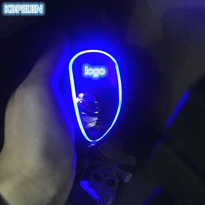 HOT Car accessories Gear Shift Knob Touch Sensor Colourful Car Logo LED Light For Buick regal gs excelle encore lacrosse