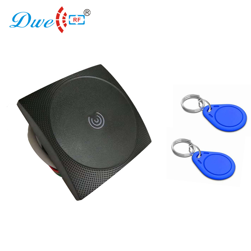 Control access rfid tag reader 12V plastic waterproof IP65 rf scanner proximity weigand reader 125k waterproof glue square rf access control reader rfid antenna coil induction coil slim compact