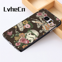 LvheCn phone case cover For Samsung Galaxy S3 S4 S5 mini S6 S7 S8 edge plus Note2 3 4 5 7 8 FLORAL STAR WARS PATTERN