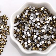 Diy Wedding Rhinestone Decoration Round Flatback Glass Rhinestones Shapes Gold 3d Nail And Gems R026