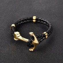 Fashion Stainless Steel Anchor Bracelet for Men