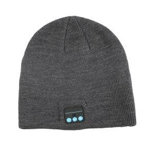 Унисекс смарт беспроводной Bluetooth Музыка зимняя теплая вязаная шапка бини наушники шапка с громкой связью наушники