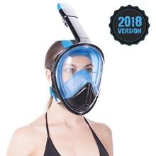 5535a9422 2018 Vista Panorâmica Completa Rosto Máscaras de Mergulho Anti-fog  Anti-Vazamento de Natação Snorkel Underwater Scuba Máscara de.