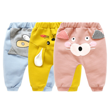 Baby Cartoon Animal Printed Pants 6
