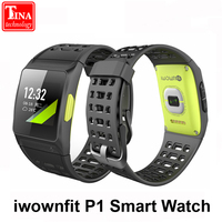 Iwownfit P1 Color Screen Smart Watch Heart Rate ECG Detection HRV Analysis Built In GPS IPS