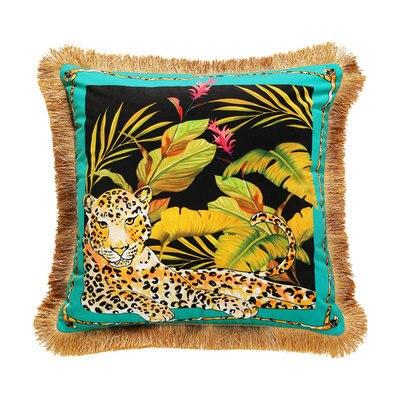 Jungle Velvet Cushion Cover