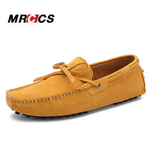 Men's Suede Leather Casual Moccasins 38-45,Spring Summer Autumn Soft Loafers, Comfortable Daily Driving Walking Flat Shoes MRCCS