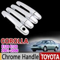 For Toyota Corolla 2001 2006 Chrome Handle Cover Trim Set E120 E130 2002 2003 2004 2005