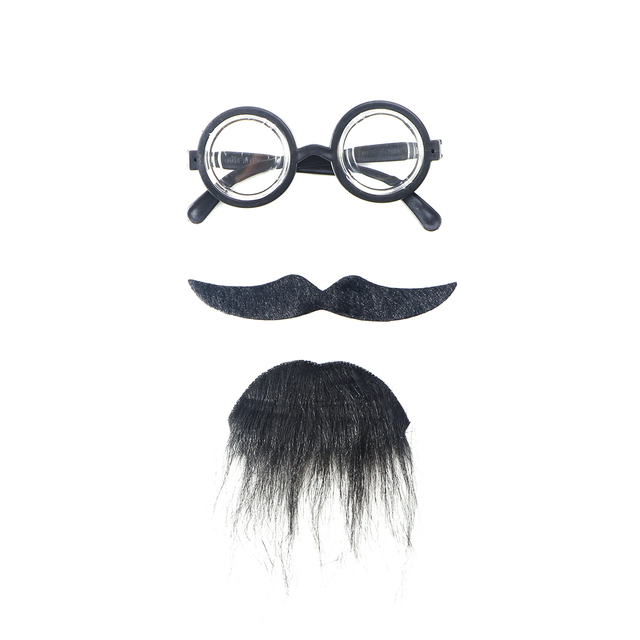 Novelty Umes Self Adhesive Fake Eyegles Beard Moustache Goatee Kit Hair Cosplay Props Decoration In Party Diy Decorations From Home