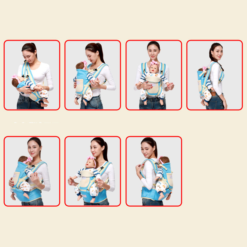 0-36 months ergonomic baby carrier and breathable hip seat kangaroo sling for newborns