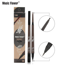 Original Music Flower 2 in 1 Eyebrow Pencil Tint 1.5mm Super Fine Pen Waterproof Long-lasting Precision Brow Drop shipping