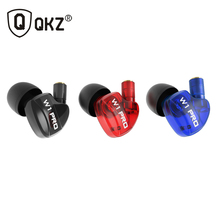 QKZ W1 Headphone For Running With Microphone Exercising Removable Cable Headphones With Memory Wire Headset Detachable Cables