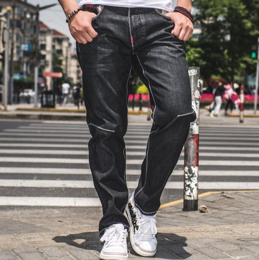 fccf76fc6ad 34 36 38 40 42 44 46 Large Size Black Jeans Straight Plus Size Teen Boys  Jeans For Man Fashion Denim Trouser Jeans Pants Men-in Jeans from Men s  Clothing on ...