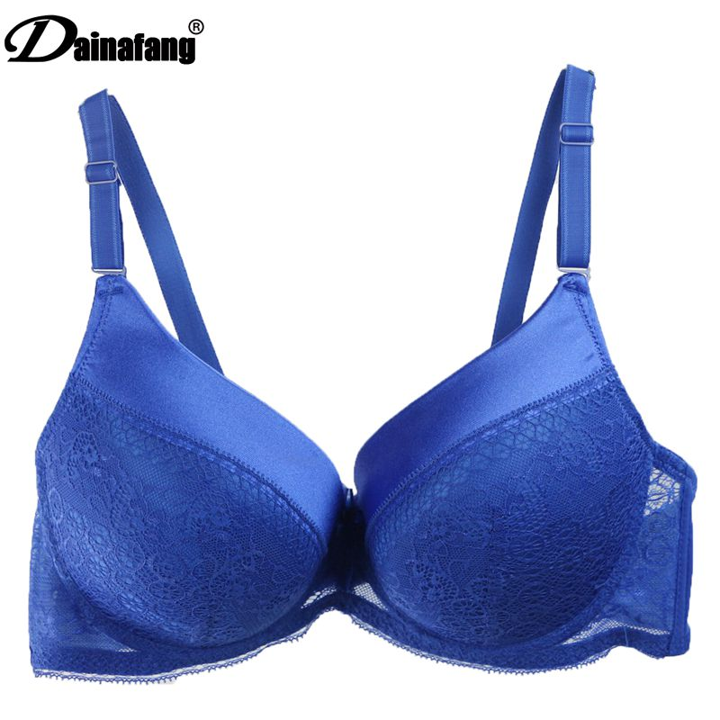 Dainafan Brand sexy lace push bra for women intimate CD large bra suit embroidery rich and noble underwear 2