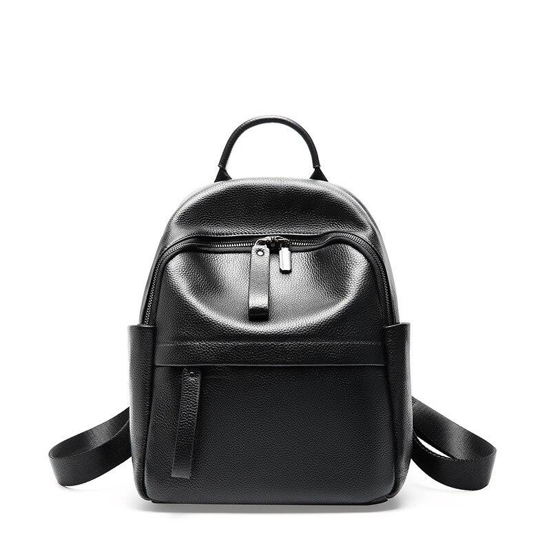 Маленький женский черный рюкзак для путешествий милые дизайнерские рюкзаки женские высококачественные школьные сумки для девочек подростков водонепроницаемый рюкзак - 2