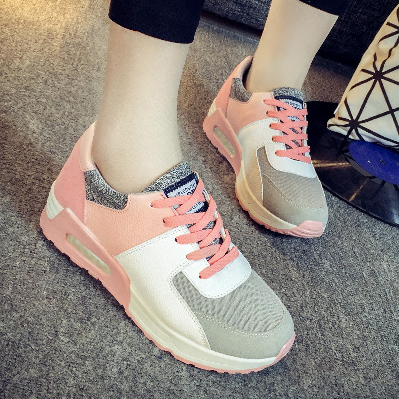 2017 fall Cotton shoes sneakers female lace sport shoes heavy bottomed women running shoes Forrest Gump shoes basket femme