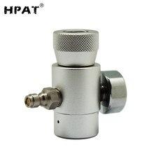 HPAT Co2 리필 어댑터 커넥터 8mm 남성 퀵 디스 커넥트 어댑터 및 게이지가있는 소다 Co2 탱크 스트림 용 가스 조절기