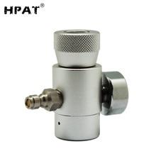 HPAT Co2 zapasowy Adapter złącze Regulator gazu do strumienia Soda Co2 z 8mm męskim adapterem do szybkiego rozłączenia i miernikiem