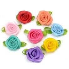 10 шт. 3 см атласная лента розы цветы головок ручной работы DIY Craft Скрапбукинг для Свадебные украшения дешевый искусственный шелк розетки