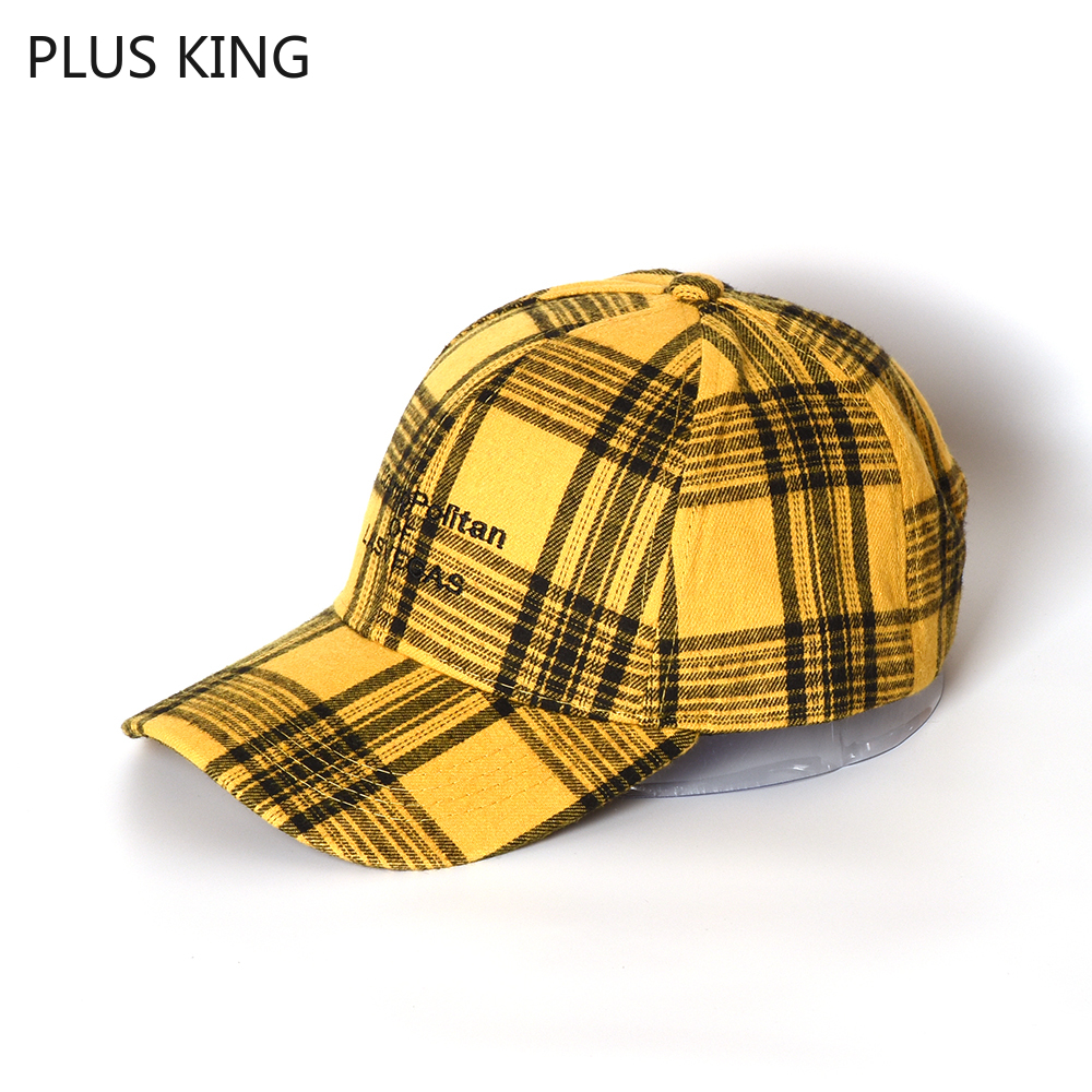Spring Autumn Winter Retro Plaid Baseball Cap Women Men Couple Hat Teenager Student Hats for Fashion Show Harajuku Yellow in Men 39 s Baseball Caps from Apparel Accessories