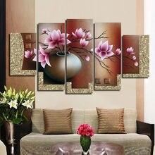 Hand Baumwolle stickerei 3D DIY kreuzstich DMC kreuzstich Sets Fünf League Ziehen Kits Blumen Orchidee Dekoration