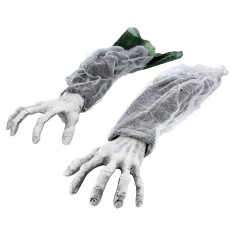 Halloween zombie hands Green Sleeve 2