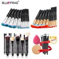 Bluefrag купить 3 получить 1 подарок кисти для макияжа пудра Румяна Кабуки Тени Blending Brush как Make Up Tool