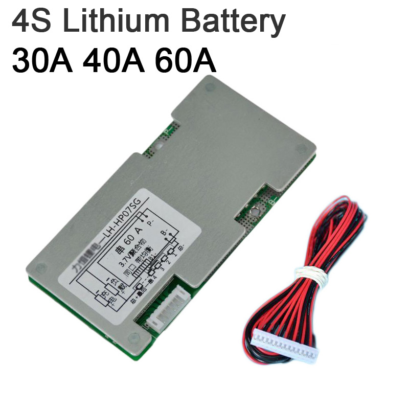 4S 3S 12V 30A 40A 60A Li-ion lifepo4 Lithium Battery Protection Board High Current Balance Lipo Cell BMS batteries 3.2V 3.7V image