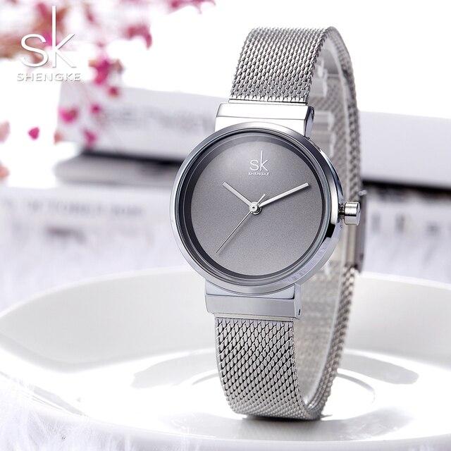 7b42290f2 SK 2018 Fashion Women's Minimalist Watches Simple Dial Watch Mesh Steel  Ladies Wrist Watches Female Clock Montre Femme K0083
