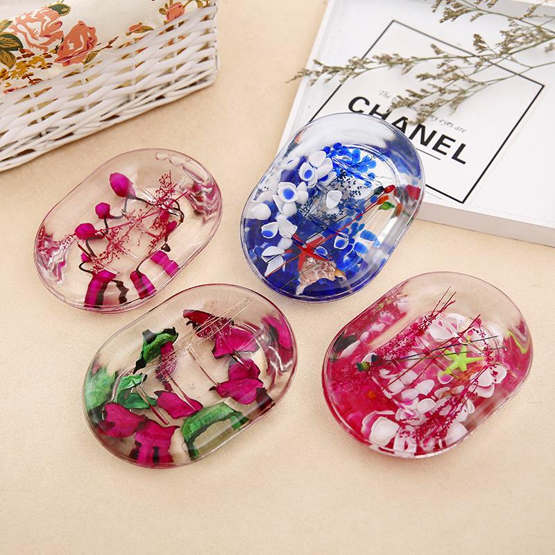 Vintage Acrylic Soap Dish Box European Style Plate Box Container Bath Shower Plate Box Home Decoration 4